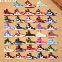 3016d430ca9 HowPlay mini sneakers jordan 1 keychains bag charm basketball shoe model  keyring AJ1 backpack pendant key