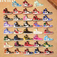 4c805b44ea HowPlay mini sneakers jordan 1 keychains bag charm basketball shoe model  keyring AJ1 backpack pendant key Holder creative Gifts
