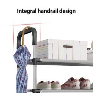 Image 5 - Porte chaussures support organisateur, 3/4/5 étages, meuble à assembler, meuble de salon
