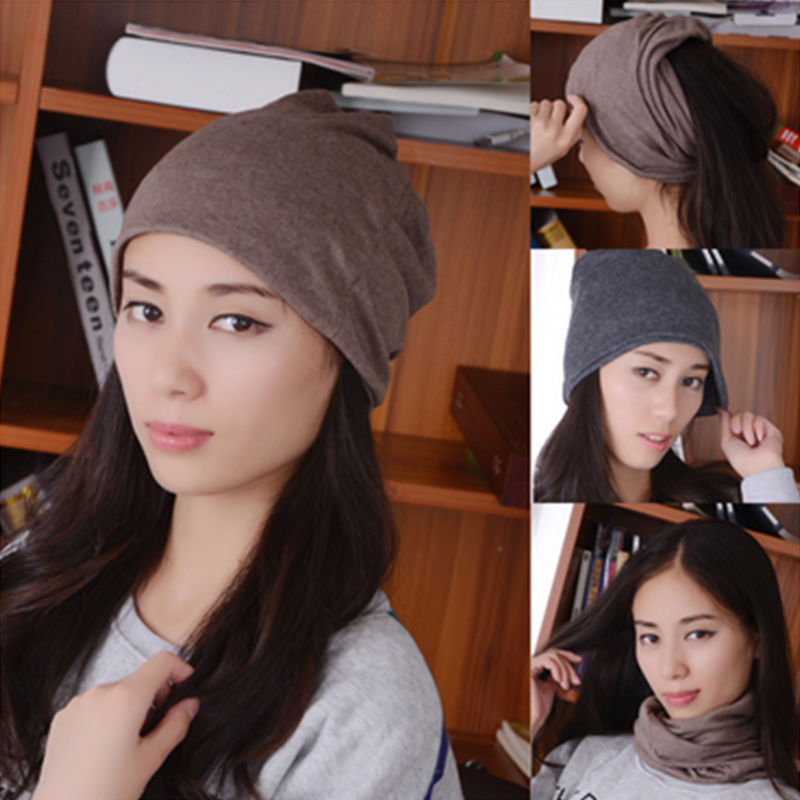 9440c1da4fd Hot Fashion Fancy 3 Way To Wear 5 Colors Voguish Cotton Women Beanies Caps  Winter Spring Hat New Arrival-in Berets from Apparel Accessories on ...