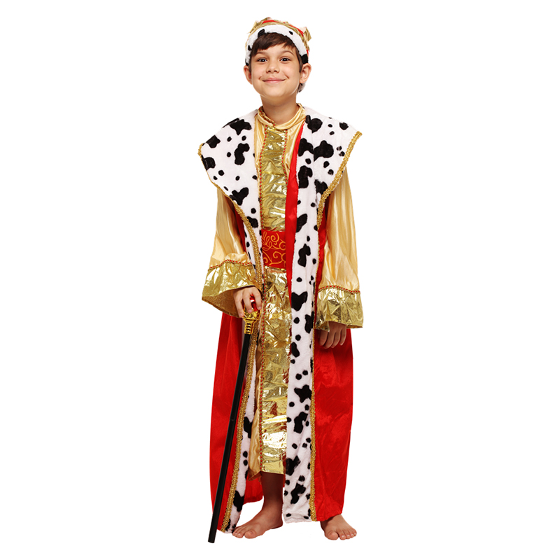 Male Prince Costume Royal King Mens S M L Halloween Fancy Dress Costume