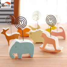 1 x CUSHAWFAMILY animals photos clip &photo holder, wood