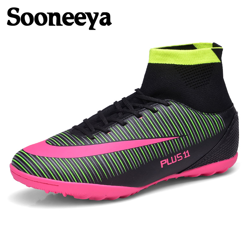 c3156769d Sooneeya Girls Boys Outdoor Soccer Cleats Shoes TF/FG Ankle Football Boots  Kids Soccer Training Sneakers Sports Shoes Size 33-38