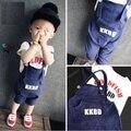 Conjunto de roupas primavera crianças crianças roupa do bebé Gentleman ternos formais Little Boy T - shirt + calças Suspender roupas em geral