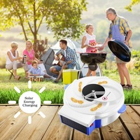 Solar Powered Automatic Fly Trap with bait Pest Control Electric anti Fly Killer Trap Pest Catcher Bug Insect Repellents