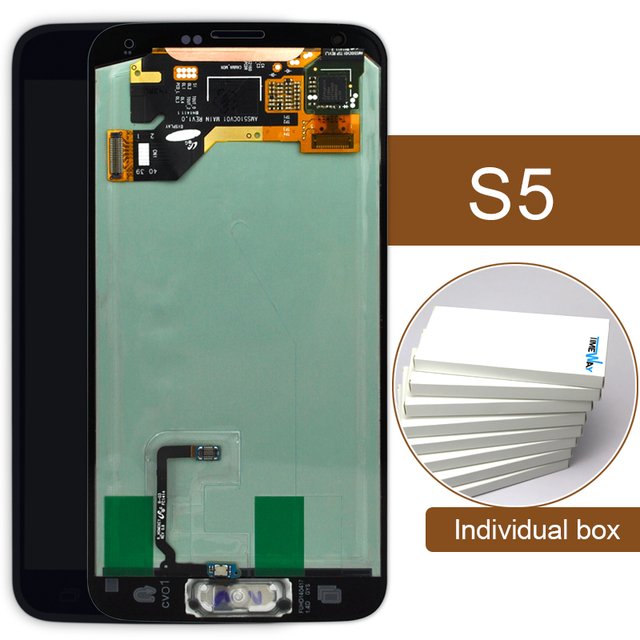 2pcs  for Samsung S5 LCD Display Touch Screen Digitizer SM-G900M SM-G900F G900A LCD Complete with Home Button