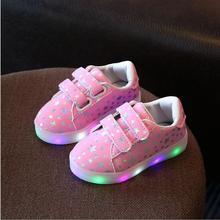 Мода мальчики девочки световой кроссовки с красочный свет малышей дети детей led мигает освещение ребенок случайные shoes kids