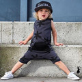 2016 New Summer  Kids Toddler Boy Rompers Clothes Printing Sleeveless Jumpsuit Outfits Sunsuit