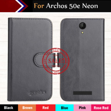 Hot!!In Stock Archos 50e Neon Case 6 Colors Luxury Ultra-thin Leather Exclusive For Phone Cover+Tracking