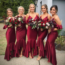 25064e2107 Burgundy Satin Dress for Bridesmaid Promotion-Shop for Promotional ...