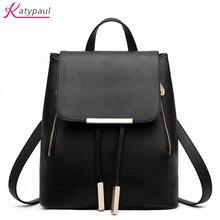 Рюкзак женский Новинка 2017 года известных брендов katypaul ярких цветов белые женские рюкзак Высокие ботинки из PU-кожи емкость школьная сумка для девочек