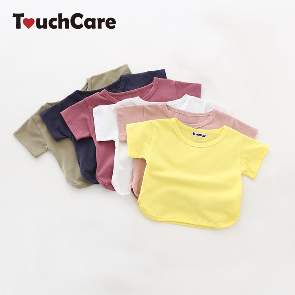 Clearance Solid Baby Boy Girl Clothes Short Sleeve Cotton
