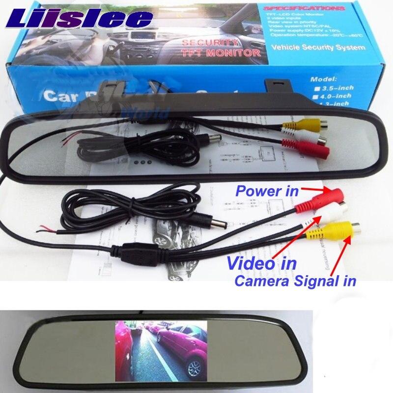 Liislee для BMW 4 / М4 специальный Резервный WiFi камера + беспроводной приемник + зеркало монитор легко DIY системы 3в1 заднего вида парковка