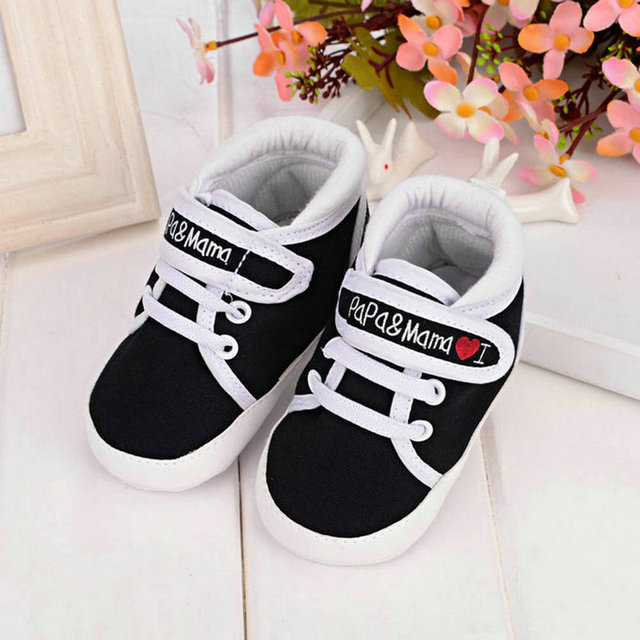 0-18M Toddler Newborn Shoes Baby Infant Kids Boy Girl Soft Sole Canvas Sneaker