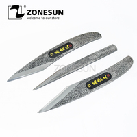 ZONESUN Carving Knife Rubber Phone Film Knifes Pen Sharpener Paper Cutting Wood Leather Cutting Tools Hand Model DIY Knives