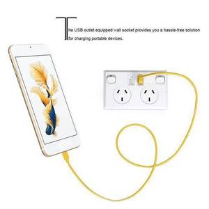 Image 4 - Double USB 2 Switch Electrical Wall Socket Australian AU Plug Home Power Point Supply Plate Home Improvement Tools