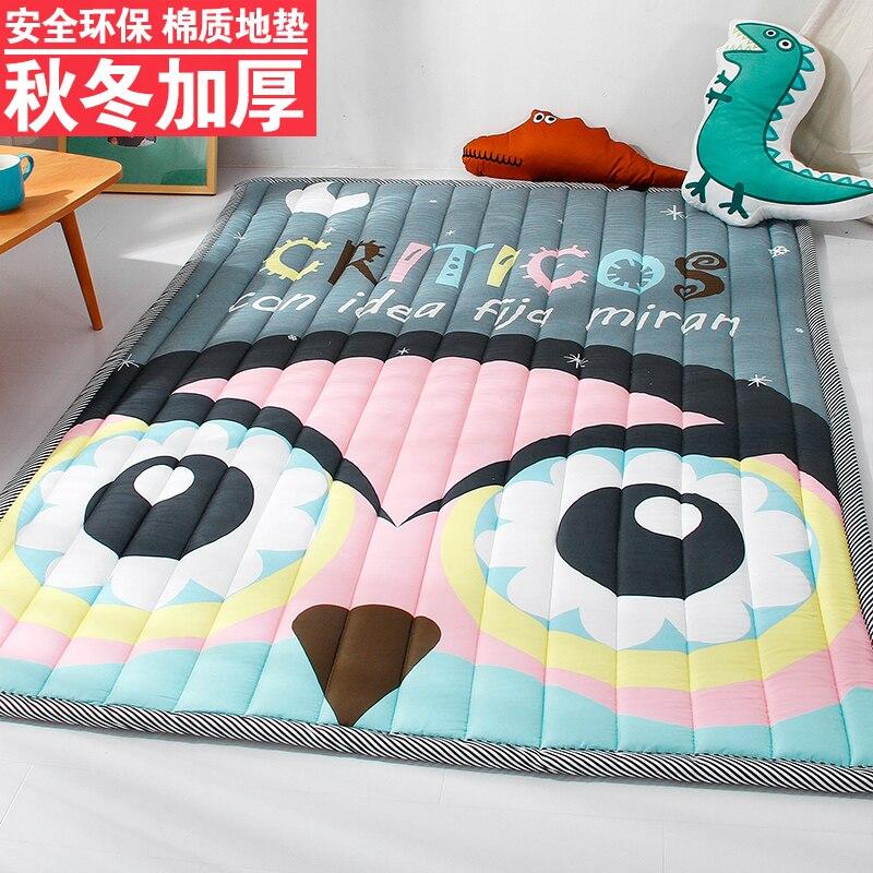 Tapis éducatifs pour enfants tapis rampant tapis en tissu de coton écologique pour enfants tapis de chambre