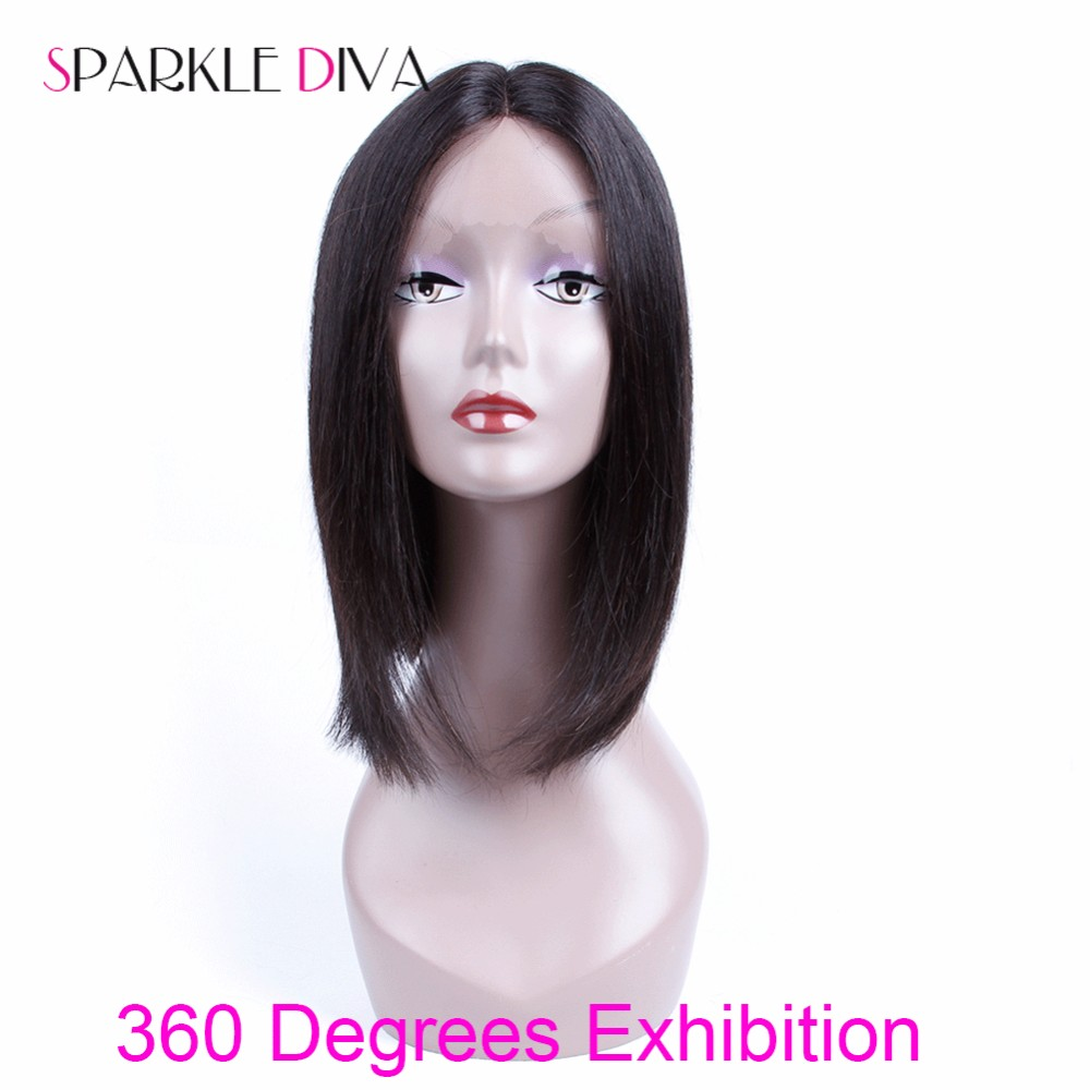 Mink Brazilian Human Hair Wigs Short Human Hair Bob Wigs Unprocessed Virgin 100% Lace Frontal Human Hair Bob Wigs With Baby Hair (4)