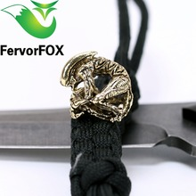 1PC Paracord Beads Metal Charms For Paracord Bracelet Accessories Survival,DIY Pendant Buckle for Paracord Knife Lanyards