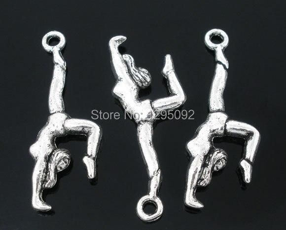c02663c877c 150 unids ventas al por mayor caliente de la nueva DIY Tono de plata  animadora Amuletos Colgantes joyería hacer conclusiones componente 30x10mm
