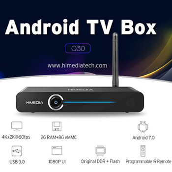 10 PCS Himedia Q30 4K Smart Android 7.1 TV Box 2GB 8GB Hisilicon HI37980 V200 Quad Core Media Player Set-Top Box PK X96 H96 Pro