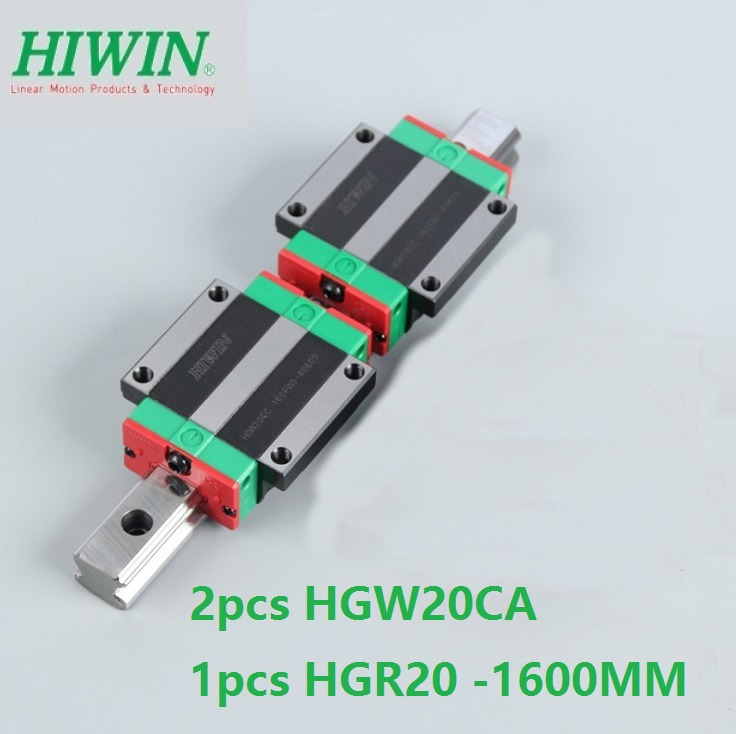 1pcs 100% original Hiwin linear guide rail HGR20 -L 1600mm + 2pcs HGW20CA HGW20CC flange carriage for cnc 1pcs 100% original Hiwin linear guide rail HGR20 -L 1600mm + 2pcs HGW20CA HGW20CC flange carriage for cnc