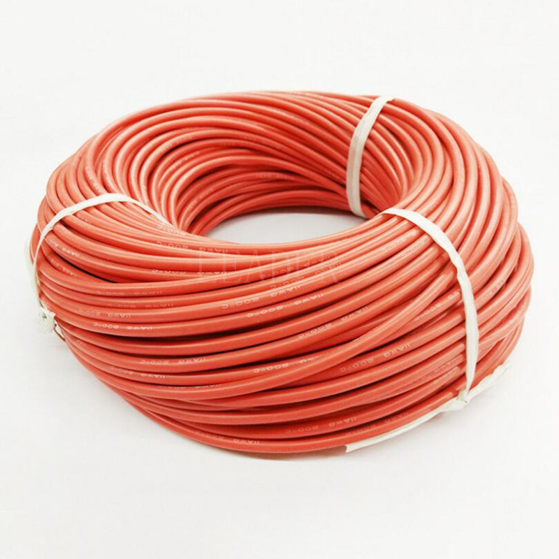 200 Meters/Roll 18/20WG High Temperature Soft Silicone Cable Tinned ...