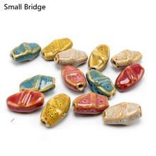 13mm Flower Glaze Vintage Ceramic Beads For Jewelry Making Necklace DIY Accessories Loose Spacer Porcelain Bead Wholesale