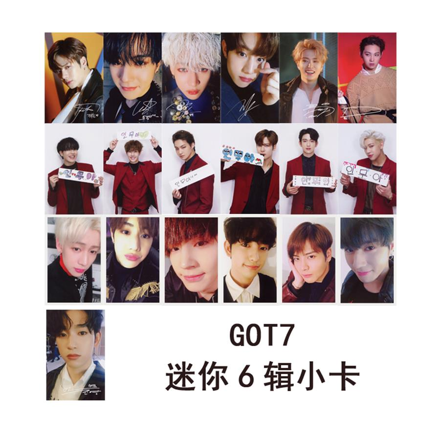 Kpop Got7 Never Ever Paper Photo Cards Jb Yugyeom Self-made Fashion Autograph Photocard Poster Luxuriant In Design Jewelry & Accessories