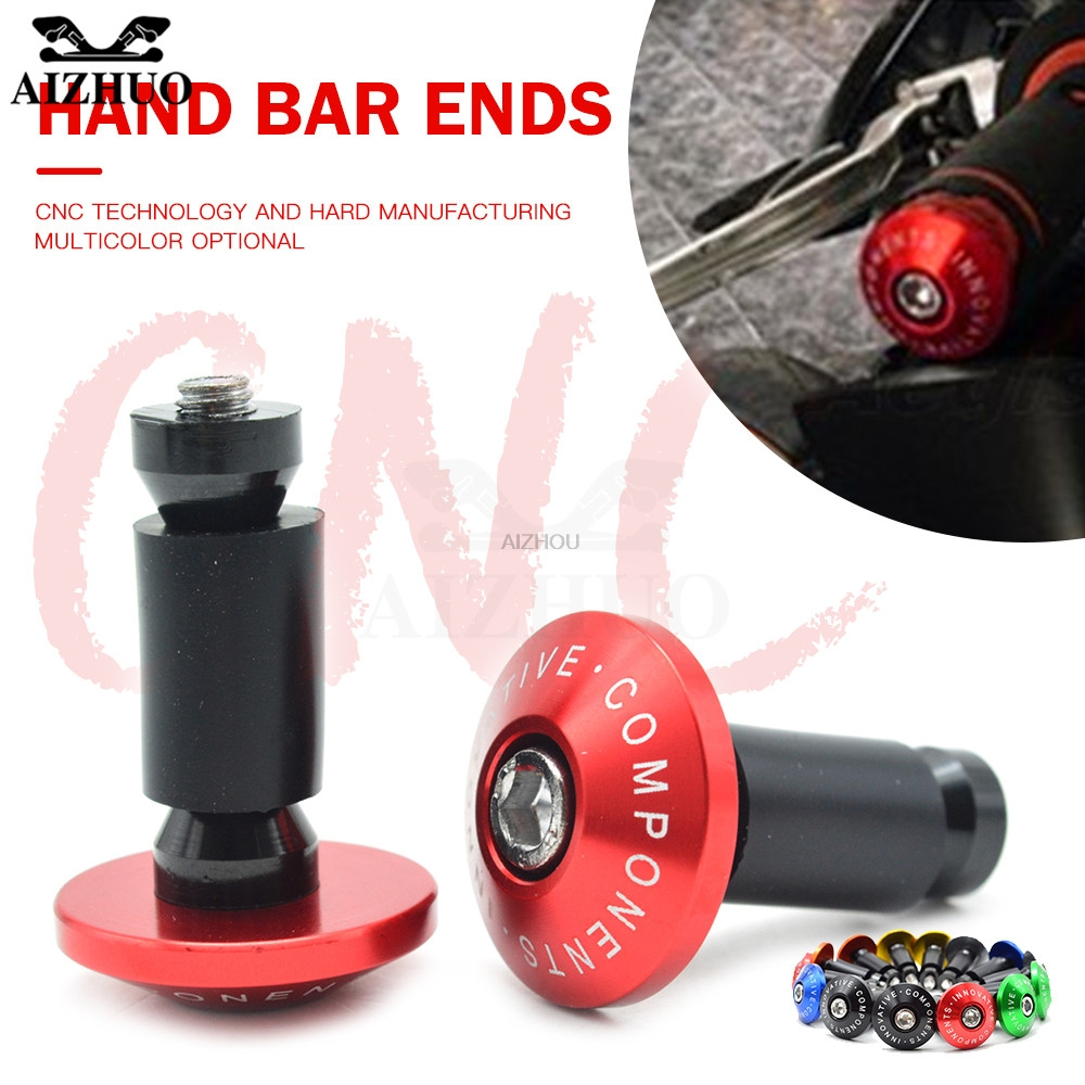 "Universal Motorcycle 22mm 7/8"""" Hand Bar End Handle Grips End Caps For yamaha YZF-R1S LE YZF-R1M YZF-R1 LE YZF-R15 FZ6R fz6r R6"
