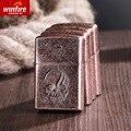 Winfire/criativo retro neve Xingfeng de cobre em relevo mais leve querosene à prova de vento mais leve direto da fábrica do grupo