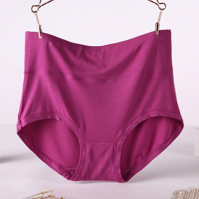 QA194 Plus Size 6xl 7xl mulheres calcinha cueca de fibra de bambu de  cintura alta moldar 266c62e0a1a