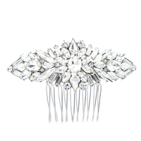 Crystals Rhinestone Hair Comb Women Hairpins Bridal Wedding Hair Jewelry Accessories Pageant Headpiece 4364