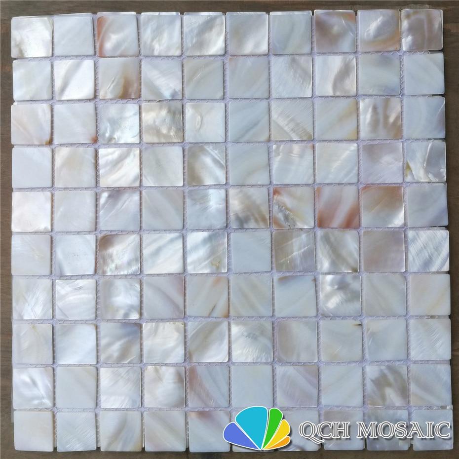 Süßwasser Shell Perlmutt Mosaik Fliesen Für Küche Backsplash Und Bad  Natürliche Farbe 11 Quadratmeter/lot