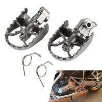 NICECNC Front Footpegs Foot Rest Peg For BMW F650GS G650GS 00 12 F700GS F800GS 08 12 R1150GS ADV 00 05 R1200GS ADV 13 14
