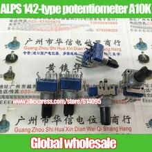 2 шт. ALPS 142 типа вертикальный одного стыка потенциометра 103A A10K/длина ручки 15MMF