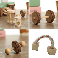 Varied Cage Accessories Natural Wooden Mini Toys