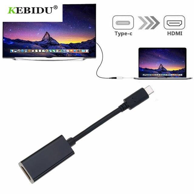 محول USB من النوع C إلى HDMI ، 4K ، 60 هرتز ، النوع C ، 3.1 ، لهاتف Samsung S9/8 Plus ، HTC ، HUAWEI LGG8 ، ذكر إلى أنثى