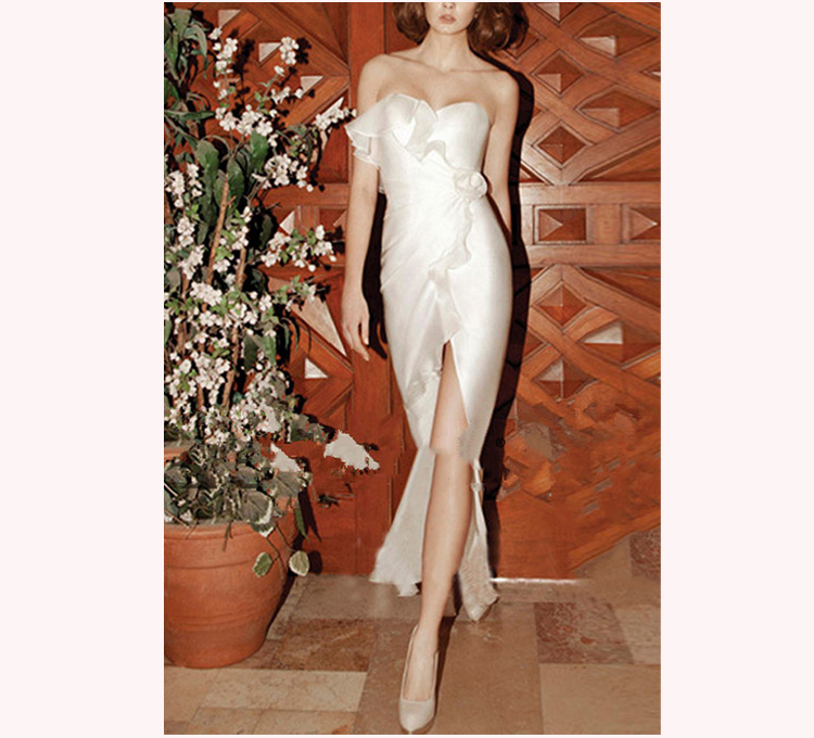 2016 Custom Made vestido festa formatura Top Quality Sexy Skirt Handmade Short Ruched Evening Dress Party