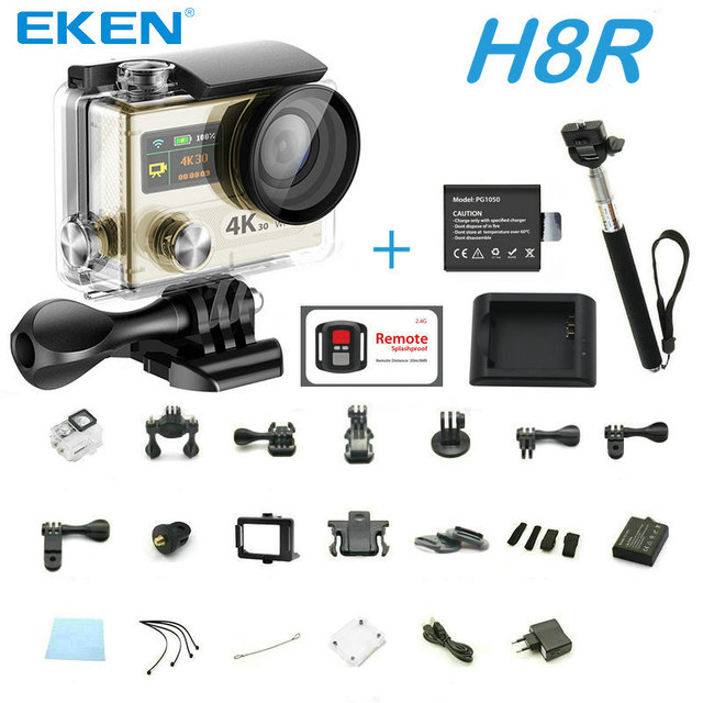 "Action camera EKEN H8R remote VR360 4K / 30fps WiFi 2.0"" Dual color screen go Helmet pro waterproof sport Camera with charger"