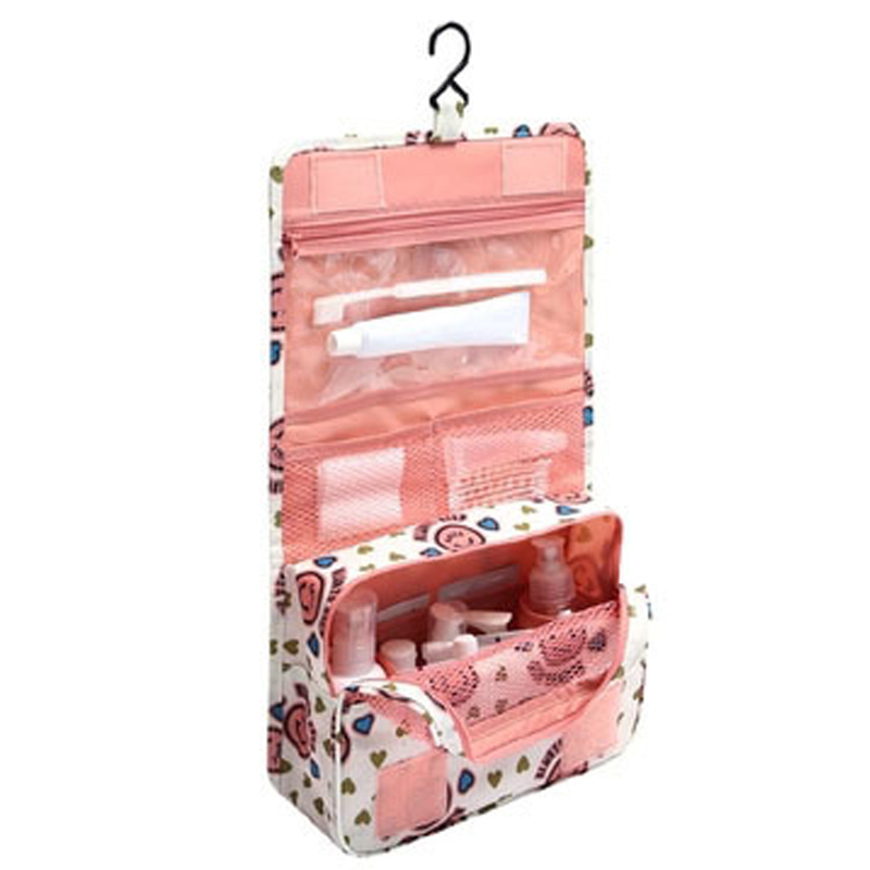 d6d9b6aea141 US $4.49 10% OFF|Travel Pouch Waterproof Portable Toiletry Bag Women  Cosmetic Organizer Pouch Hanging Cute Wash Bags Makeup Bag Professional-in  ...