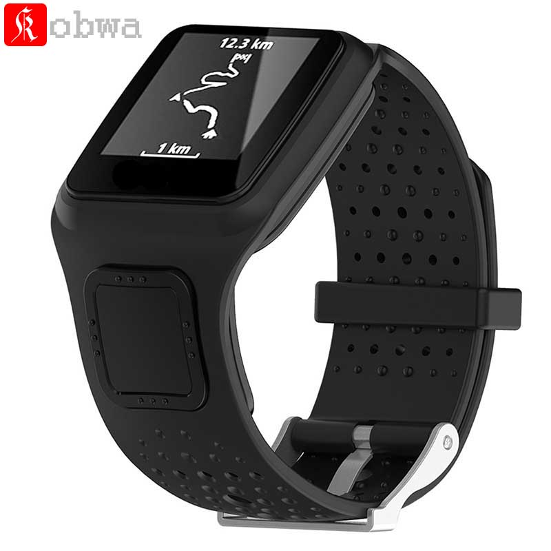 Kobwa Soft Silicone Watchband for TomTom 1 Series Smart Watch Sport Strap Accessories for TomTom Multi-sport runner GPS Watch все цены