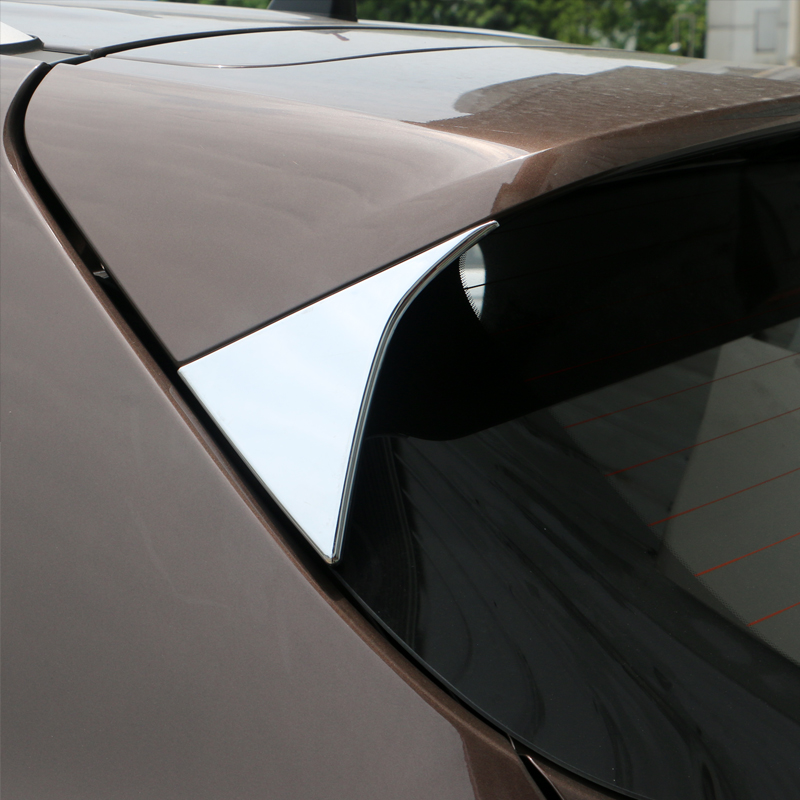 Untuk Kia Sportage 2016 2017 ABS Chrome Side Door Belakang Lihat Window Spoiler Cover Trim Triangle Insert Decorating Bezel Kereta