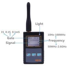 IBQ102 Handheld Digital Frequency Counter Meter Wide Range 10Hz-2.6GHz for Baofeng Yaesu Kenwood Radio Portable Frequency Meter