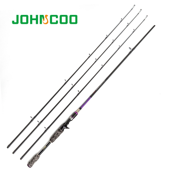 John Coo 3 Top Section Fishing Rod ML M MH Carbon Fast