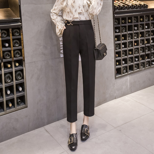 2018 Spring New High Waist Female   Pants     Capris   Fashion Office Lady Trousers For Women Ankle-length   Pants   Women's   Pants
