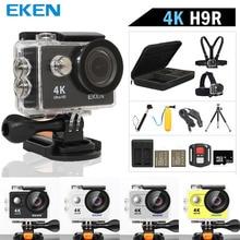 """Оригинальная Экшн-камера eken H9R Ultra HD 4K WiFi с 2,4G пультом дистанционного управления 2,"""" экраном 30 м водонепроницаемая Спортивная мини-камера"""