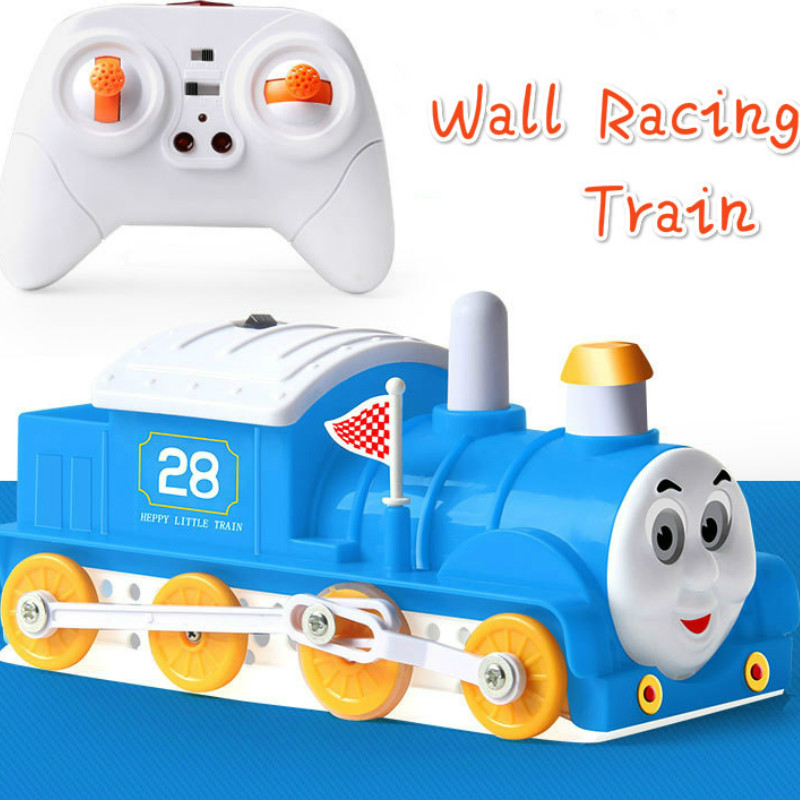 New RC Wall Climbing Train Remote Control Anti Gravity Ceiling Racing Car Electric Toy Machine Auto Gift for Children