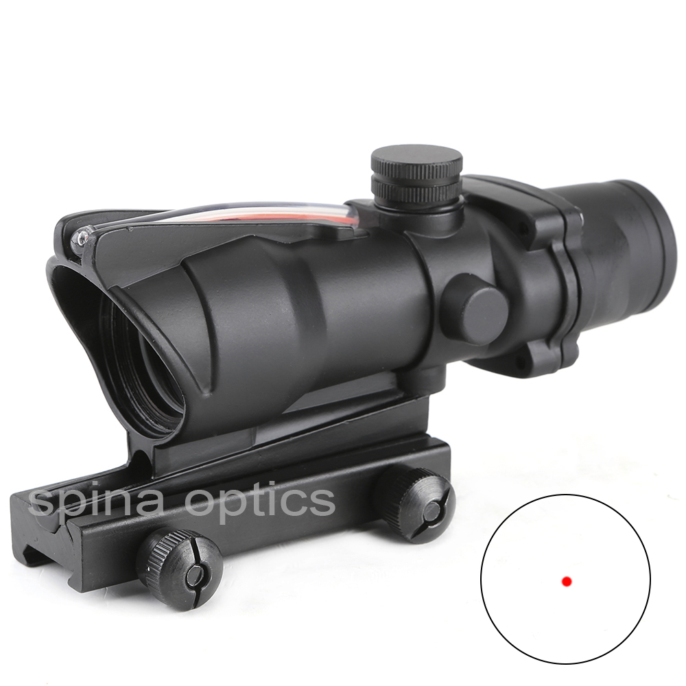 Scope ACOG 1X32 Tactical Red Dot Sight Real Red Green Fiber Optic Riflescope With Picatinny Rails For Rifle Hunting