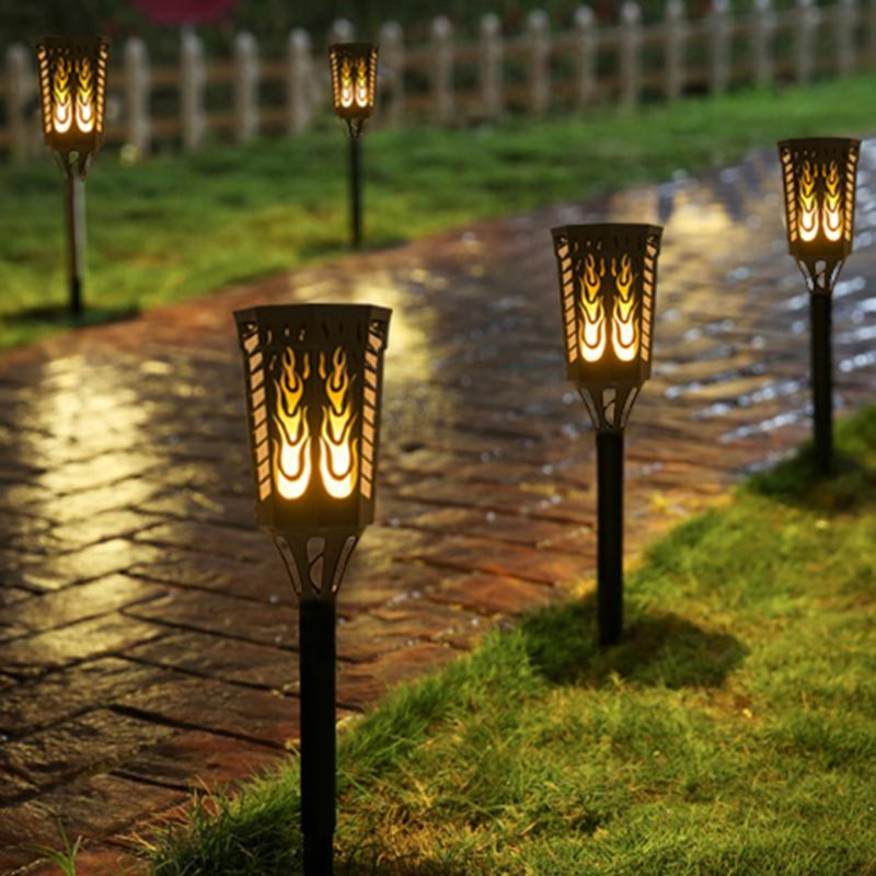 Porch Light Flickers When Off: Solar Powered LED Flame Lamp Waterproof Dancing Flickering